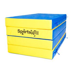 Мат SportsWill 200 х 100 х 10 скл син