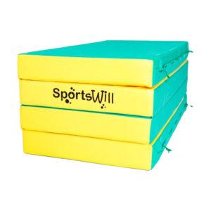 Мат SportsWill 200 х 100 х 10 скл зел