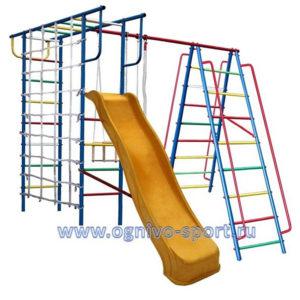 Детская площадка Вертикаль-А1+П с сеткой и горкой 3,0 м
