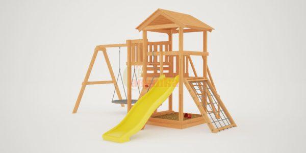 Детская площадка Савушка Мастер 2 с качелями Гнездо 1 метр-2