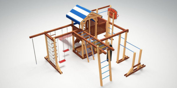 Детская площадка Савушка Семейная-3