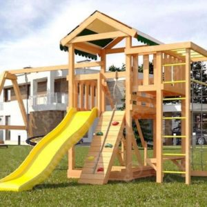 Детская площадка Савушка Мастер 3 + качели-гнездо