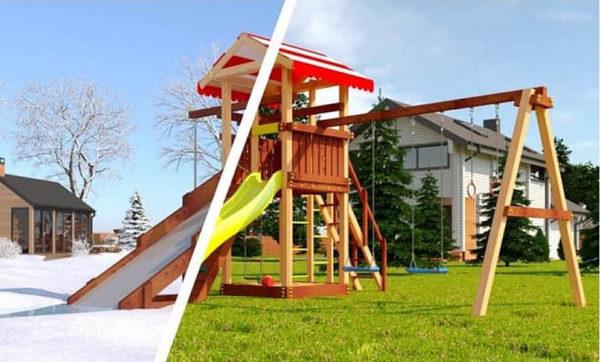 Детская площадка из дерева Савушка 4 сезона – 3