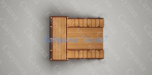 Зимняя деревянная игровая горка Савушка «Зима» — 4_5