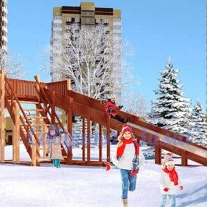 Зимняя деревянная игровая горка Савушка «Зима» — 6