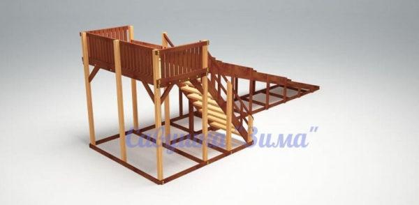 Зимняя деревянная игровая горка Савушка «Зима» — 6_2