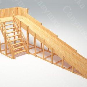 Зимняя деревянная игровая горка Савушка «Зима wood» — 6