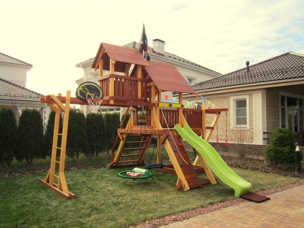 Детская площадка Савушка Люкс 7 фото
