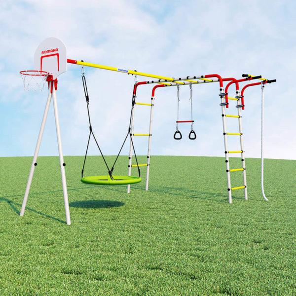 Детский спортивный комплекс для дачи ROMANA Акробат – 2 (качели гнездо)