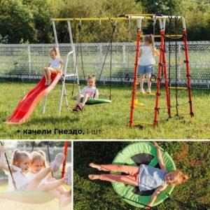 Детский спортивный комплекс для дачи ROMANA Богатырь Плюс - 2_4
