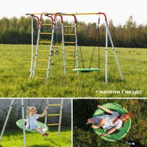Детский спортивный комплекс для дачи ROMANA Веселая лужайка - 2_3