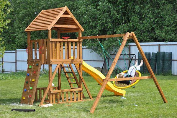 Детская площадка Африка качели-гнездо