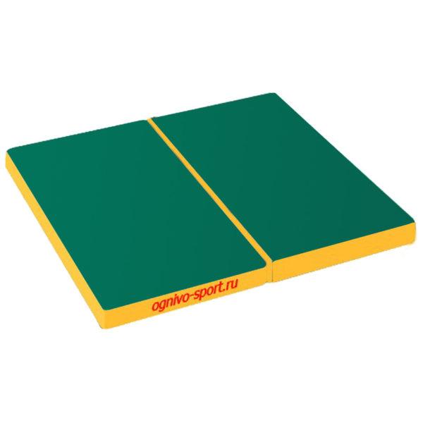 800 sportivnyj mat ognivo sport skladnoj 100 h 100 h 10 zeleno zheltyj