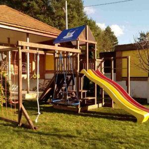 Детская площадка Росинка 5.1 плюс качели-гнездо