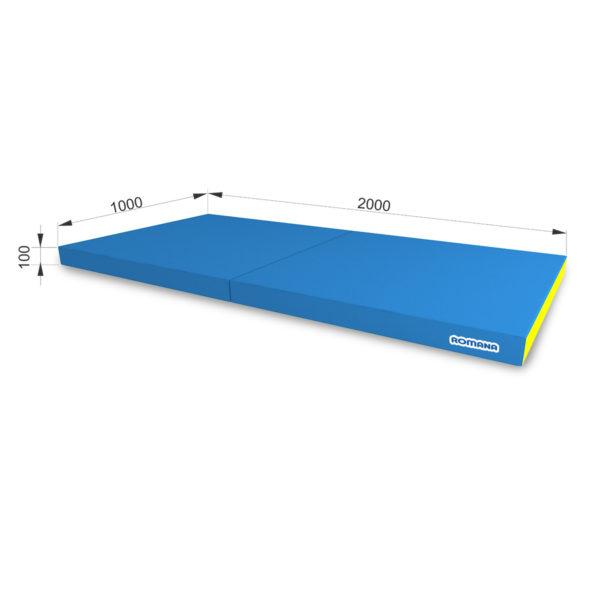 РОМАНА Мягкий щит (Мат) 1000-2000-100, в 2 сложения голубой-желтый