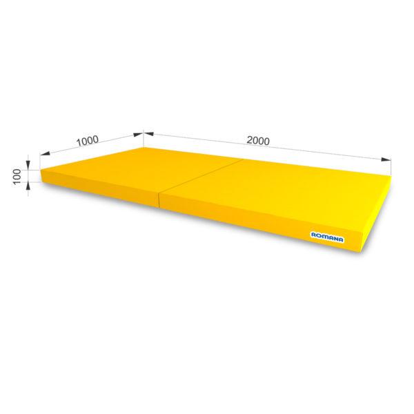 РОМАНА Мягкий щит (Мат) 1000-2000-100, в 2 сложения желтый