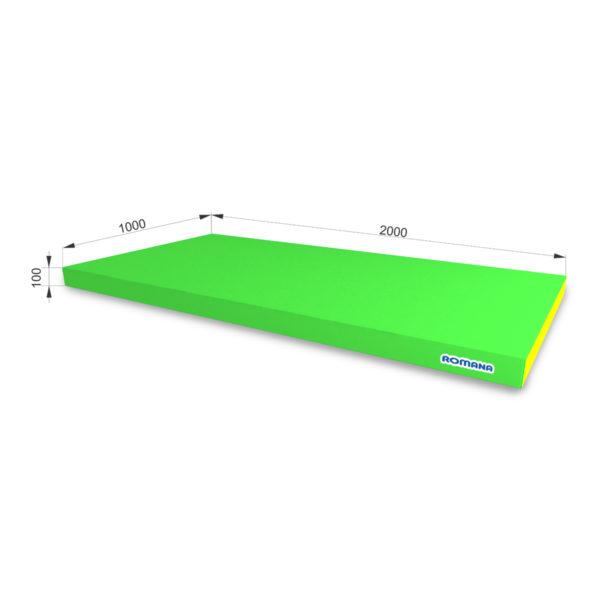 РОМАНА Мягкий щит (Мат) 2000-1000-100, одинарный светло-зеленый-желтый