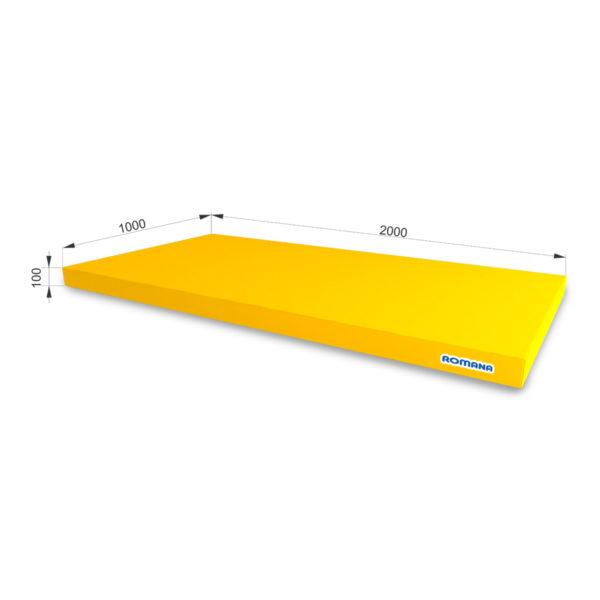 РОМАНА Мягкий щит (Мат) 2000-1000-100, одинарный желтый