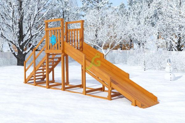 Зимняя горка Снежинка, скат 4 м