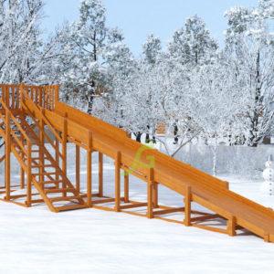 Зимняя горка Snow Fox, скат 10 м