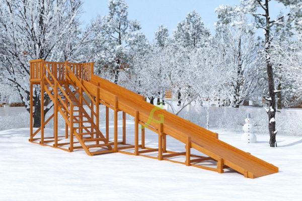 Зимняя горка Snow Fox скат 10 м