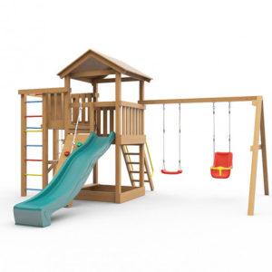 Детская площадка для дачи Лео окрашенная_1