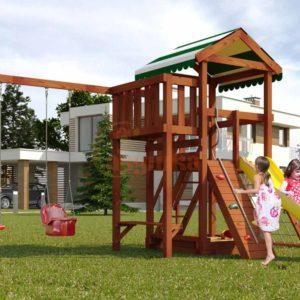 Детская площадка Савушка Мастер - 2 (Махагон)-1
