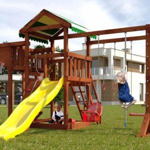 Детская площадка Савушка Мастер 4 (Махагон)-1